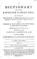 A Dictionary of the English Language ... Abstracted from the folio edition ... The fourth edition, corrected