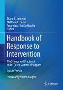 Handbook of Response to Intervention