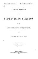 Report of the Federal Security Agency  Public Health Service
