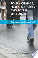 Policy change  public attitudes and social citizenship
