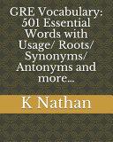 GRE Vocabulary  501 Essential Words
