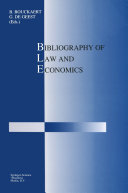 Bibliography of Law and Economics - Seite 312