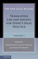The New Legal Realism  Volume 1