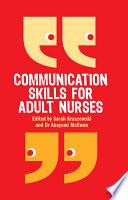 Ebook Communication Skills For Adult Nurses