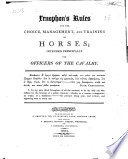 Xenophon s Rules for the Choice  Management  and Training of Horses  Intended Principally for Officers of the Cavalry Book