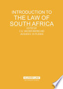 Introduction To The Law Of South Africa