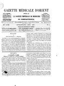 Gazette médicale d'Orient
