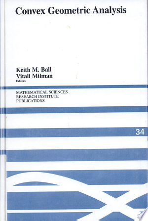 Download Convex Geometric Analysis Free Books - Dlebooks.net