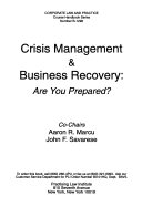 Crisis Management   Business Recovery