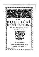 The Poetical Recreations of Mr  Alexander Craig of Rosecraig