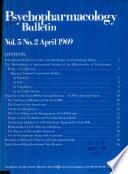 Psychopharmacology Bulletin Book