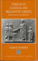 Families in Classical and Hellenistic Greece Book
