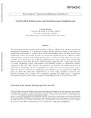 Civil war risk in democratic and non democratic neighborhoods