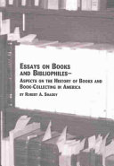 Essays on Books and Bibliophiles Book