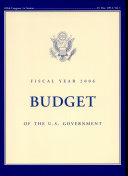 Budget  Budget of the United States Government