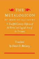 The Metalogicon of John of Salisbury