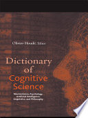 Dictionary of Cognitive Science Book