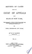 Reports of Cases Decided in the Court of Appeals of the State of New York Book PDF