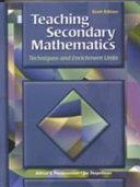 Teaching Secondary Mathematics Book PDF