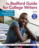 The Bedford Guide for College Writers with Reader  Research Manual  and Handbook  with 2020 APA and 2021 MLA Update Book