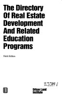 The Directory Of Real Estate Development And Related Education Programs Book PDF