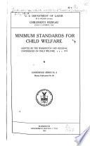 Minimum Standard For Child Welfare