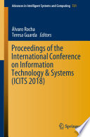 Proceedings of the International Conference on Information Technology   Systems  ICITS 2018