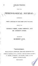 Selections From The Phrenological Journal