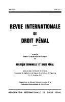 International Review Of Penal Law