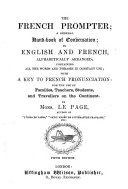 The French Prompter  a complete handbook of conversation