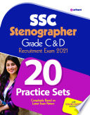 20 Practice Sets For Ssc Stenographer Grade C D 2021