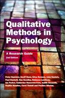 Qualitative Methods in Psychology