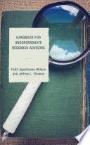 Handbook for Undergraduate Research Advisors