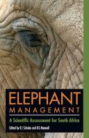 Pdf Elephant management Telecharger