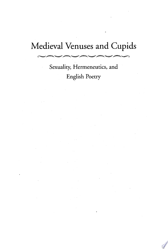 Medieval Venuses and Cupids