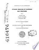 Proceedings  of The  Army Conference on Dynamic Behavior of Materials and Structures