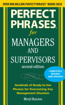 Perfect Phrases for Managers and Supervisors  Second Edition