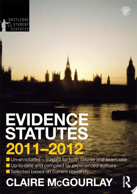 Evidence Statutes 2011 2012