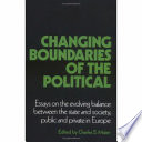 Changing Boundaries of the Political