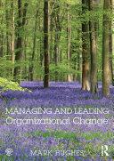Pdf Managing and Leading Organizational Change Telecharger