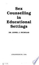 Sex Counselling in Educational Settings