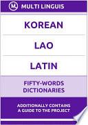 Korean    Lao    Latin Fifty Words Dictionaries