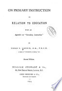 On Primary Instruction in Relation to Education