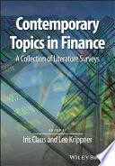 Contemporary Topics in Finance Book
