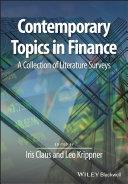 Contemporary Topics in Finance [Pdf/ePub] eBook