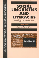 Cover of Social Linguistics and Literacies