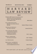 Harvard Law Review Volume 130 Number 9 Bicentennial Issue 2017