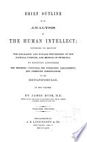Brief Outline of an Analysis of the Human Intellect