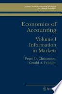 Economics Of Accounting Book