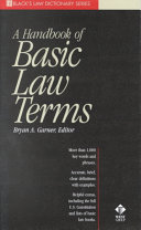 A Handbook of Basic Law Terms